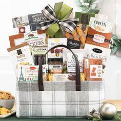 Gourmet Gift Baskets - Business Appreciation Gift Basket Holiday Gift Baskets, Gourmet Gift Baskets, Holiday Gifts, Business Thank You, Thanksgiving Gifts, Appreciation, Herbs, Free Shipping, Xmas Gifts