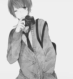 Image about boy in Black And White / Manga by D. Hot Anime Boy, Cute Anime Guys, Anime Love, Manga Boy, Manga Anime, Anime Art, Bishounen, Anime People, Manga Drawing