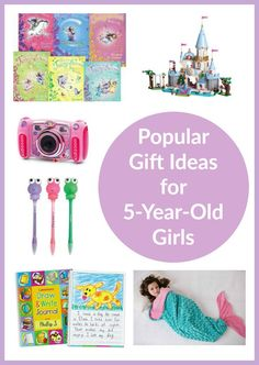 gift ideas 5 year old girl. Check out this list chock-full of great gift ideas for 5 year old girls. Whether it's a birthday or Christmas or no reason at all, these are certain to be a hit!