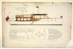 Plan cruiser, Pollyanna 1933. ANMM Lars and Harold Halvorsen Collection