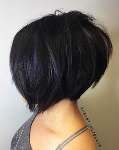 Inverted Choppy Black Bob