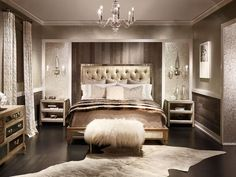 rustic glamour bedroom - Google Search