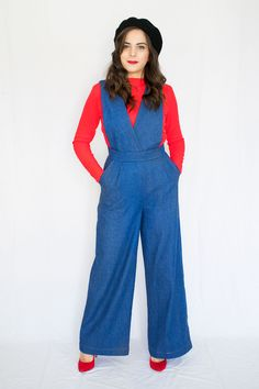 Rachel Jumpsuit and Trousers and the Nikki Cardigan Say Hello, Sewing Patterns, Trousers, Jumpsuit, Pants, Overalls, Monkey, Factory Design Pattern, Jumpsuits