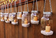 Seems simple enough to make, and it would be soft and romantic lighting for outside at the reception.