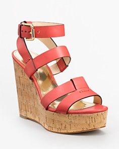I generally don't like wedges, but I'll make an exception for these COACH Charla High Wedges