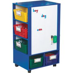 Really Good Active Learning Center Blue With Primary Baskets And Label Holders by Really Good Stuff Inc Mobile Learning, Learning Centers, Learning Activities, Teaching Ideas, Classroom Setting, Future Classroom, Classroom Decor, New E Class, Discount School Supply