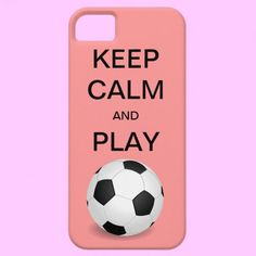 KEEP CALM AND PLAY SOCCER CaseMate iPhone 5 Case #Zazzle #soccer #keepcalm