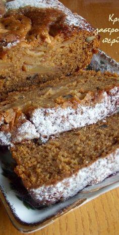 Νηστίσιμο κέικ μήλου στο μπλέντερ ή στο multi! (VIDEO) - cretangastronomy.gr Apple Cake Recipes, Sweets Recipes, Cookie Recipes, Vegan Sweets, Vegan Desserts, Healthy Desserts, Greek Sweets, Greek Desserts, Greek Cake