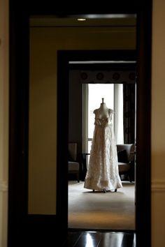 Sleeveless empire waist bridal gown | photography by http://www.davidwittig.com/