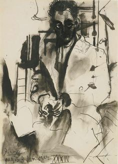 immafuster:Portrait of Man Ray by Pablo Picasso, 1934