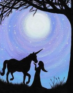 What is Your Painting Style? How do you find your own painting style? What is your painting style? Unicorn Painting, Unicorn Art, Unicorn Crafts, Magical Unicorn, Collage Kunst, Silhouette Painting, Woman Silhouette, Horse Silhouette, Silhouette Images