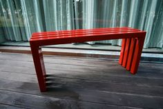 Perfect red bench via @Etsy