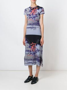 Jean Paul Gaultier Vintage Printed T-shirt Dress - Dressing Factory - Farfetch.com