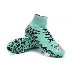 New Shoes Nike HyperVenom Phantom II FG Football Cleats Green Grey Black