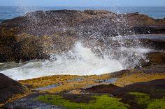 Waves crashing,  Yachats, OR
