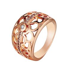 Free Shipping Hot Selling acessorios para mulher Engagement rings insets pierced round bague Factory Wholesale HBR312