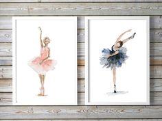 Ballet Art - ballet dancer Watercolor Painting - set of 2 prints - Ballerina Painting Wall Decoration - dAncing woman girls room art by Zendrawing on Etsy https://www.etsy.com/listing/281847464/ballet-art-ballet-dancer-watercolor