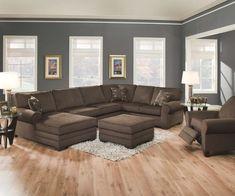 Brown Sofa Gray Walls
