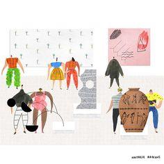 The Exhibition  #illustration #etsy #etsyshop #print #watercolour #pattern