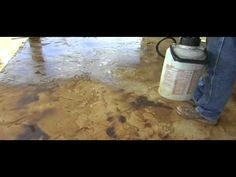 Lying Direct Colors Concrete Acid Stain And Solvent Based Sealer To A Textured Overlay