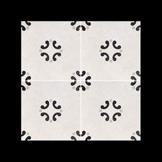#Cementine #Black & #White Series - #b&w_3 #8x8 #Porcelain #Tile #pattern example - available from #MidAmericaTile