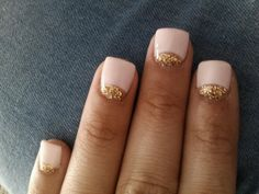 nails, nails, nails.. pink & gold french manicure