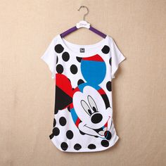 hot sale new 2015 women summer minnie mouse brand cotton tops tee o-neck short sleeve casual cartoon t shirt  4193