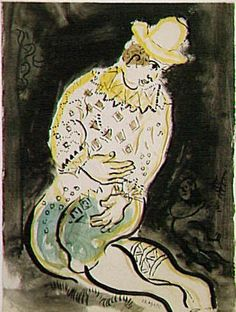 Le clown by Marc Chagall, 1930 http://www.photo.rmn.fr/cf/htm/CSearchZ.aspx?o==500=25210388=2K1KTSGBADHBF=2K1KTSGBADHBF=T=26=2C6NU0V3JFS3