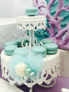 Bizzie Bee Creations 's Birthday / Mermaids - Little Mermaid birthday party at Catch My Party 14th Birthday, Baby First Birthday, 4th Birthday Parties, Birthday Party Decorations, Little Mermaid Birthday, Little Mermaid Parties, Little Mermaid Decorations, Chandelier Cake, Cake Stands