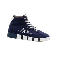 Blue High Top Suede Flocking Skate Shoes (€32) ❤ liked on Polyvore featuring shoes, sneakers, suede high tops, skate shoes, high-top sneakers, suede skate shoes and hi top skate shoes