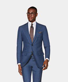 Light Grey Suits, Brown Suits, Suit Supply, Classic Suit, Dapper Men, Fitted Suit, Suit And Tie, Black Wool, Mens Suits