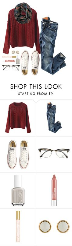 """""""The people that try to bring you down are already below you"""" by robramey17 ❤ liked on Polyvore featuring H&M, Converse, Ray-Ban, Essie, Clinique, Marc Jacobs and Hermès"""