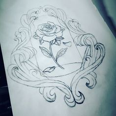 sketch for new tattoo design. Beauty and the Beast inspired flower ...