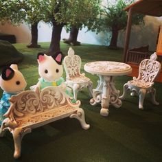 fairy garden patio set from HobbyLobby is perfect for Sylvanian families/calico critters!