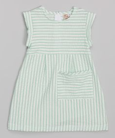 Green Seersucker Pocket Dress - Toddler & Girls | zulily