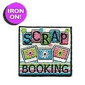 """We carry the perfect thing for the Scrapbooker in your group. Our embroidered, iron-on 2"""" Scrapbooking Fun patch is a perfect addition to their"""