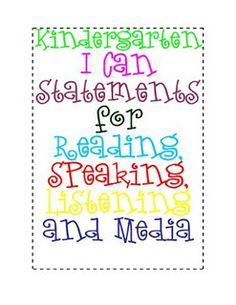 literacy i can statements