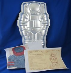 Wilton Cake Pan Spaceman Astronaut Discontinued Vintage 1978 with Instructions #Wilton