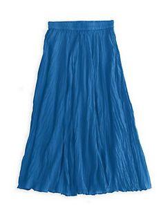Silk Broomstick Skirt 39