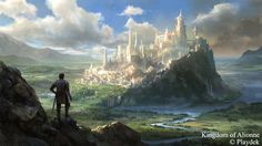 A Timeline Of Unsung Story, One Of The Biggest Kickstarter Failures Ever It was supposed to be a dream game for fans of strategy-role-playing games, but instead it became a disaster. Fantasy City, Fantasy Castle, Fantasy Places, High Fantasy, Fantasy World, Fantasy Village, Fantasy Art Landscapes, Fantasy Landscape, Landscape Art