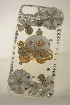 Swarovski iPhone 5 Cases - Classicase, 3d Bling Swarovski Crystal Iphone 5 Case, Cinderella's Pumpkin Cart, Greatest Present for Girls for Thanksgiving.
