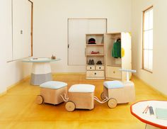 Furniture or toy? What a fun collection of kids furniture! #playroom #kids