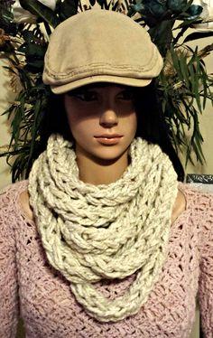 Crochet Infinity Scarf Pattern, Crochet Patterns, Chunky Infinity Scarves, I Cord, Scarfs, Crocheting, Knit Crochet, Knitting, Shop