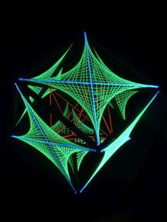 55cm-3D-String-Art-Deko-Wuerfel-Stars-Secret-Neon-Party-Blacklight