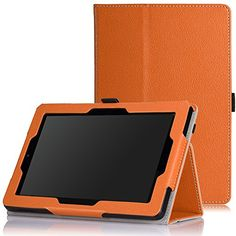 Fire Tablet Accessories  MoKo Case for Fire HD 7 2014  Slim Folding Cover with Auto Wake  Sleep for Amazon Kindle Fire HD 7 Inch 4th Generation Tablet Not Fits HD 7 2015 ORANGE <3 This is an Amazon Associate's Pin. Click the image to view the details on Amazon website.
