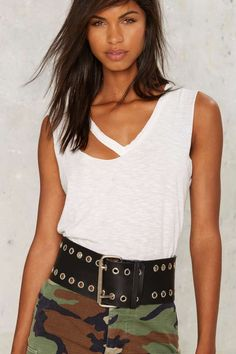 Thick Your Battles Grommet Belt | Shop Accessories at Nasty Gal!