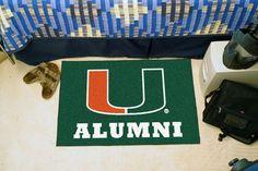 """Miami Hurricanes Alumni Starter Area Rug Floor Mat 20"""""""" X 30"""""""""""