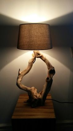 Driftwood Lamp - to see similar handmade items visit: https://m.facebook.com/branchoot