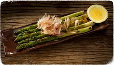 asparagus from the Robata Grill at SUGARCANE raw bar grill Miami FL.