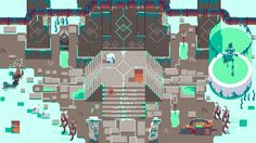 "dave-grey: "" Hyper Light Tester The test image I made for environmental work on heartmachinez Hyper Light Drifter. It was an honour just to be considered. """